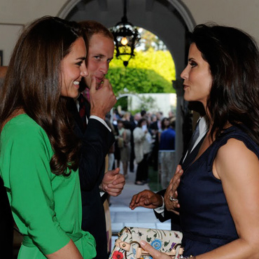 Lu Parker with Prince William and Kate