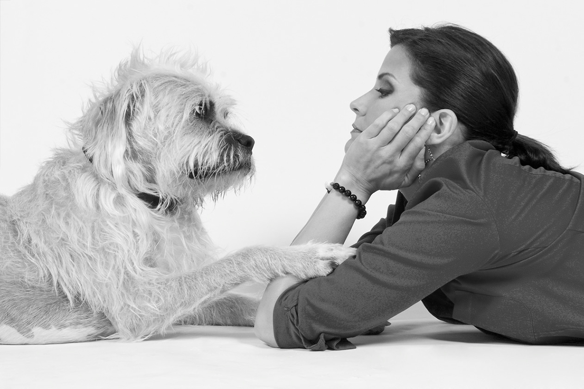 Lu Parker and her dog photo