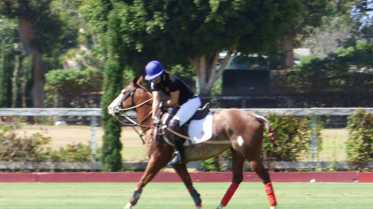 Lu Parker playing polo article