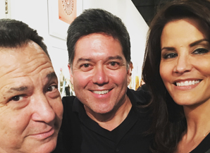 Lu Parker. Pictured with Josh Mankiewicz of Dateline and Frank Buckley of KTLA 5 News
