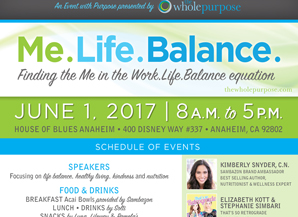 Lu Parker leader at the Me. Life. Balance conference